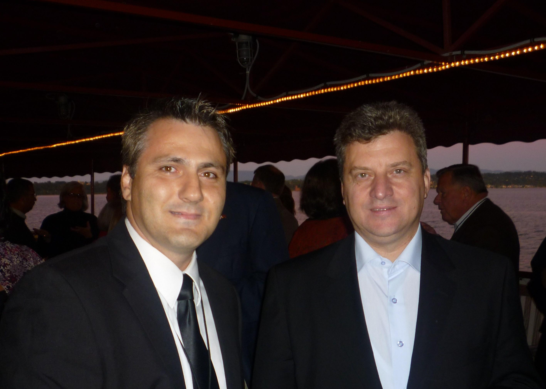 UMD Board Member Stojan Nikolov with Macedonian President Gjorge Ivanov