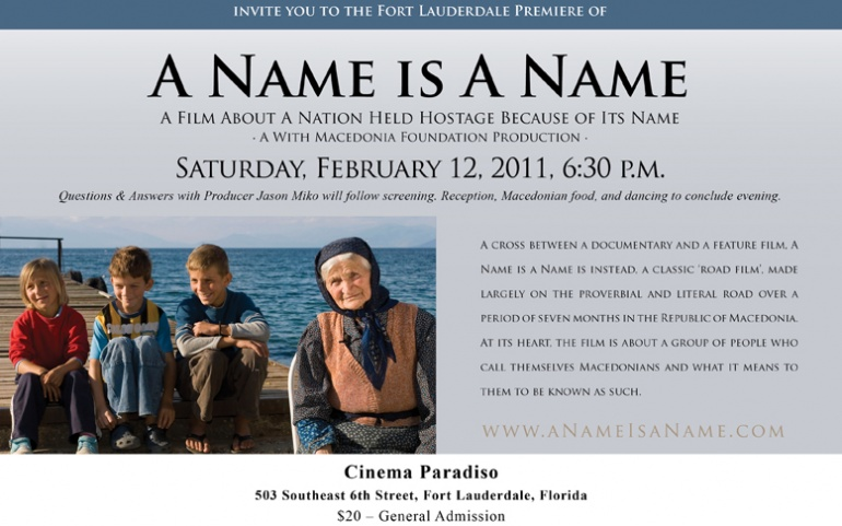 A Name is A Name to Premiere in Fort Lauderdale