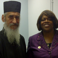 Archimandrite Tsarknias Meets U.S. Ambassador-at-Large for International Religious Freedom
