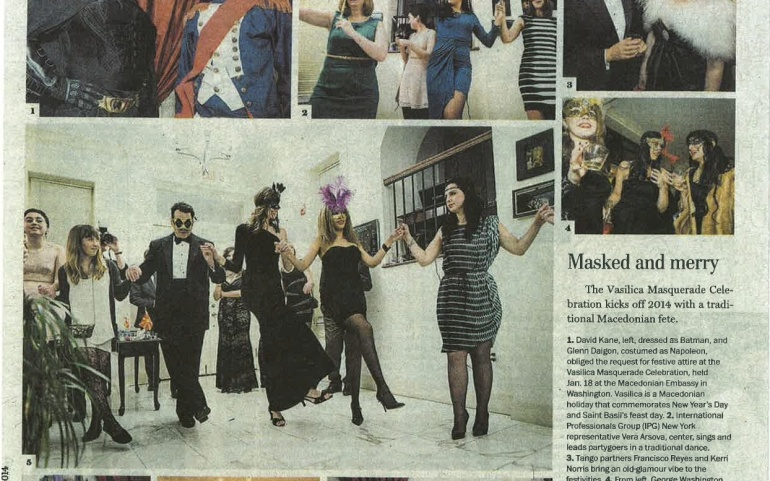 Macedonian Old New Year's Masquerade Featured in Washington Post