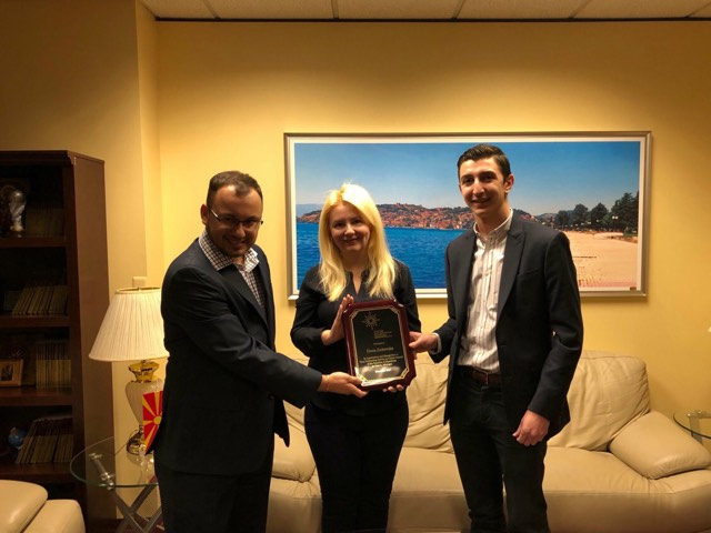 UMD Honors Outgoing Macedonian Consul General to Detroit